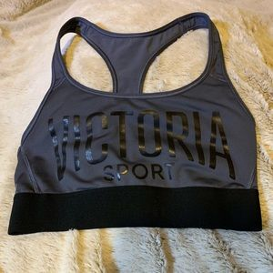 Gray Racerback Sports Bra